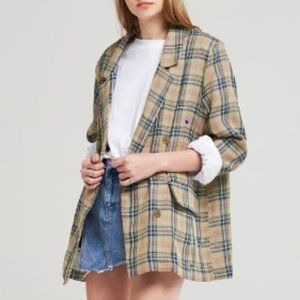 🆕 Storets Ashlynn Check Linen Jacket
